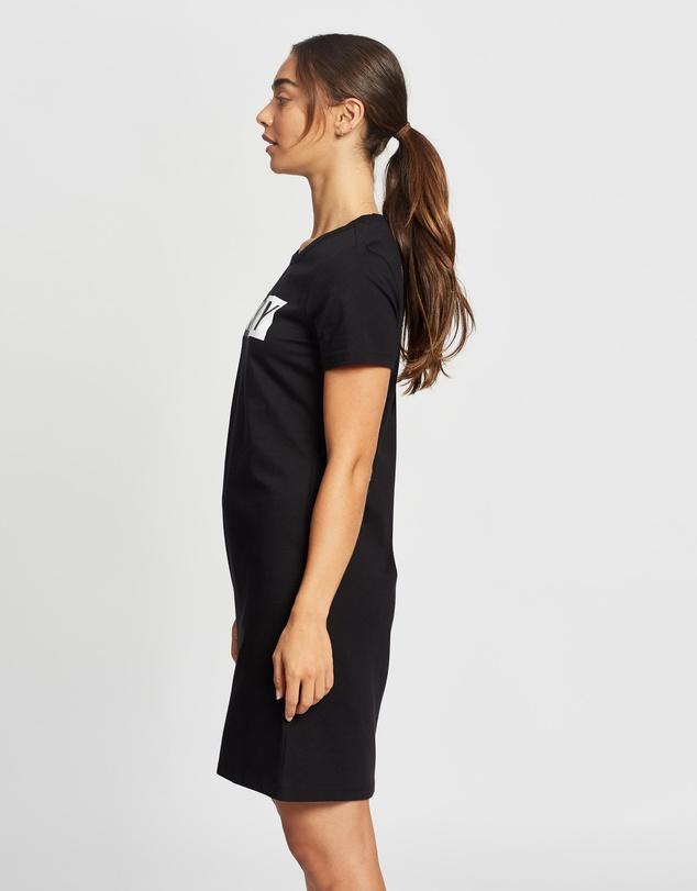 Women Two Tone Logo T-Shirt Dress