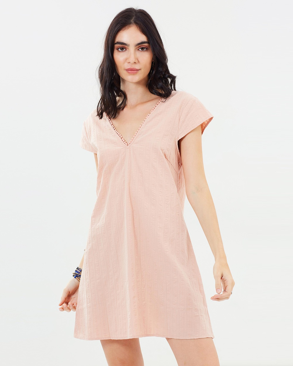 Dazie Bliss V Neck Shift Dress Dresses Pink Bliss V-Neck Shift Dress