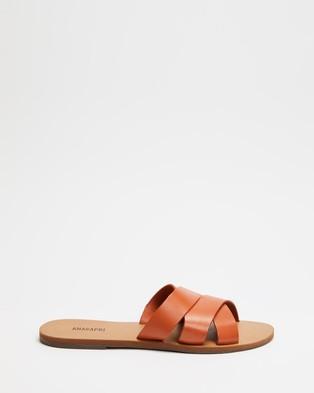 Anacapri Wave Leather - Sandals (Damasco)