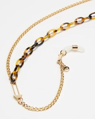 Karen Walker Arrow Combo Eyewear Chain - Sunglasses (Tort Gold)