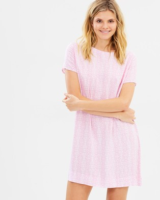All About Eve – Tile Tee Dress – Printed Dresses Lilac Tile Print
