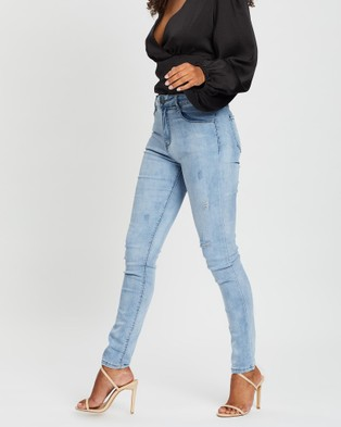 Fresh Soul Paradox Jeans - High-Waisted (Blue)