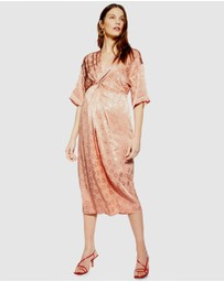 TOPSHOP Maternity - Jacquard Knot Midi Dress