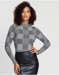 Karen Millen - Check Knit Jumper