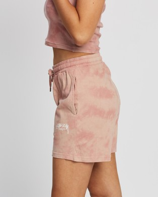 Stussy - Designs Rugby Marble Beach Shorts - Shorts (Blush) Designs Rugby Marble Beach Shorts