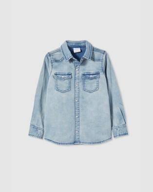 Milky Knit Denim Shirt   Kids - Casual shirts (Knit Denim)