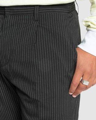 Quiksilver Mens Originals Suit Tapered Cropped Suit Pant - Pants (TAP SHOE SUIT PANT)