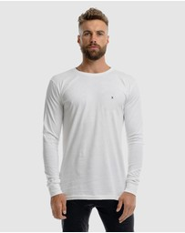 Xander - Monaco Embroidery Long Sleeve Tee