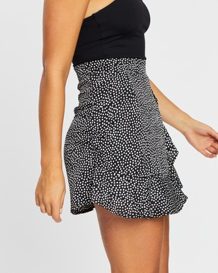 Atmos&Here Hailey Wrap Skirt - Skirts (Black Polkadot)
