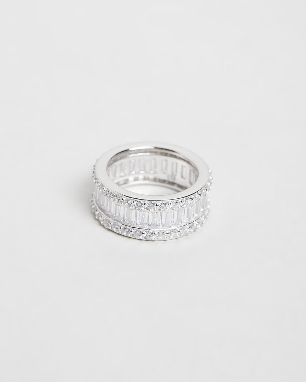 Bianc Eclipse Ring Jewellery Sterling Silver Rhodium Plated