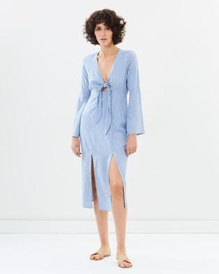 Elka Collective – Marisa Dress Blue Stripe