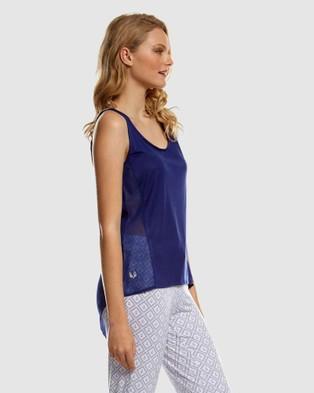 Deshabille Sleepwear  Emily Top - Sleepwear (Navy)