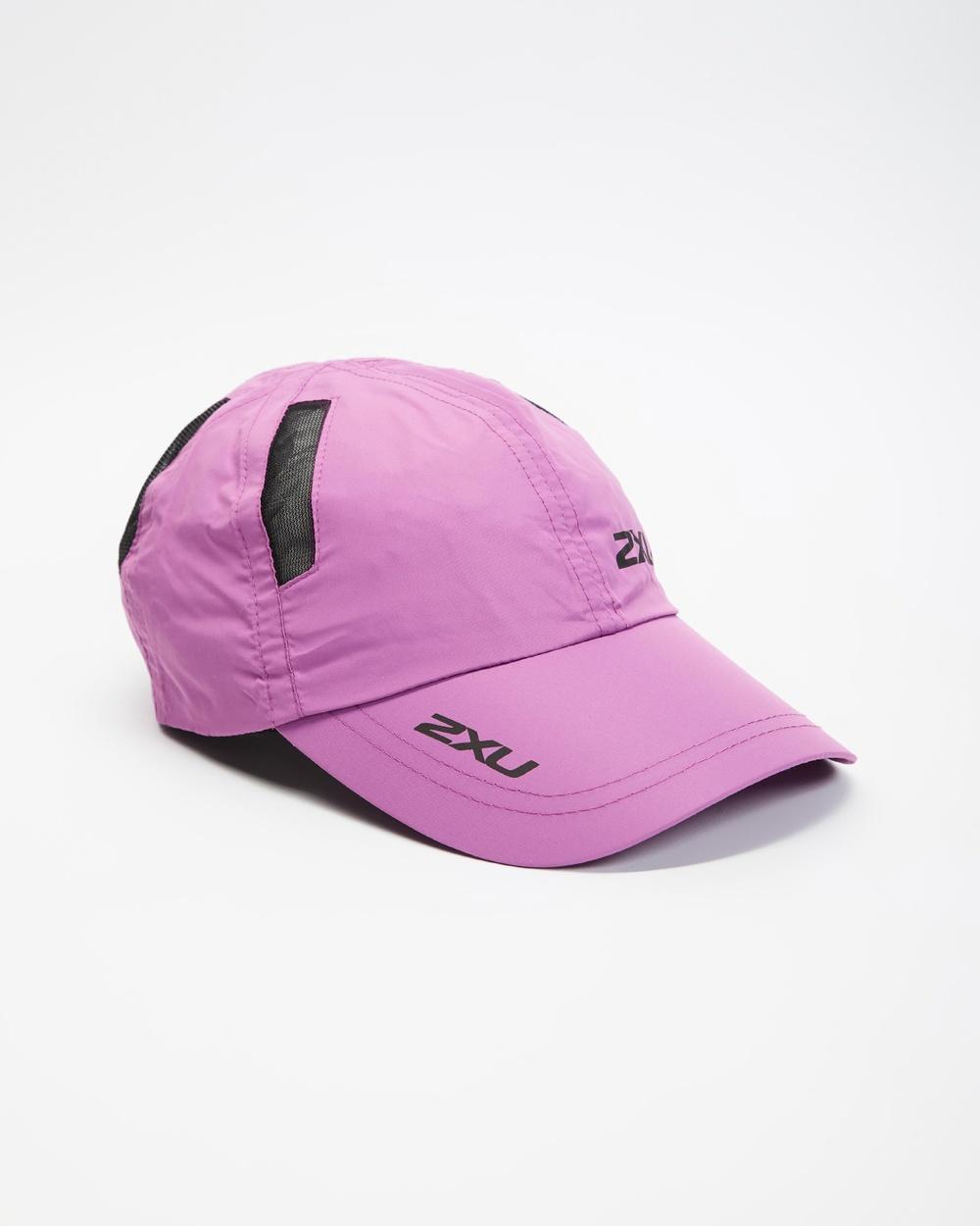 2XU Run Cap Headwear Orchid Mist & Black