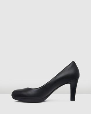 Clarks Adriel Viola - All Pumps (Black Leather)