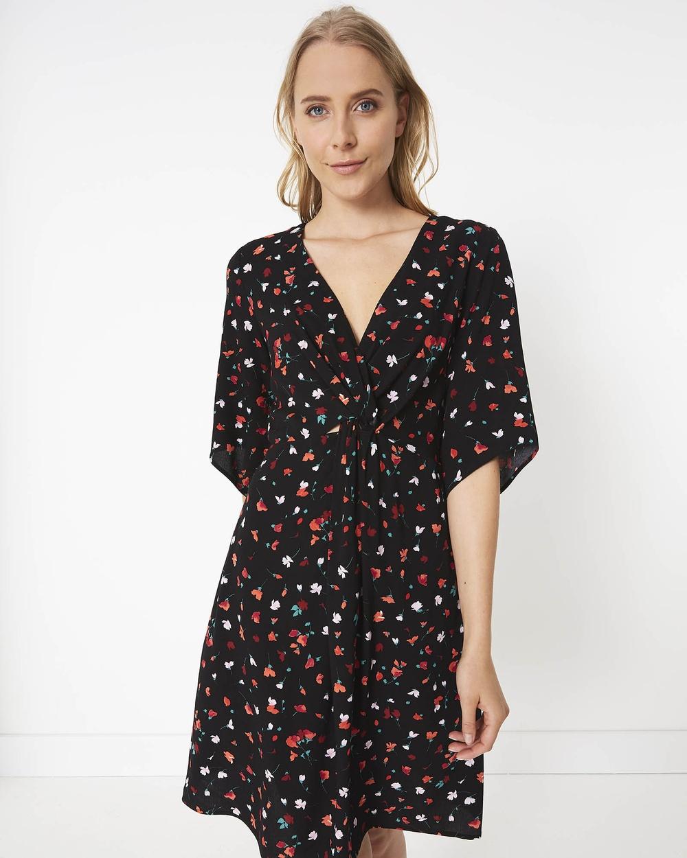 Stella Black Falling Petal Dress