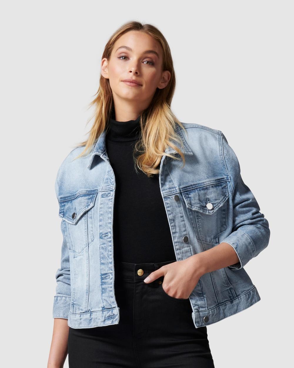 Forever New Hanna Denim Jacket jacket Light Wash Australia