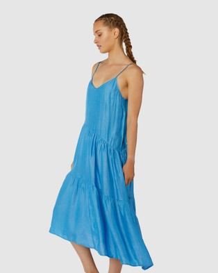 Gorman Tiered Dress - Dresses (Blue)