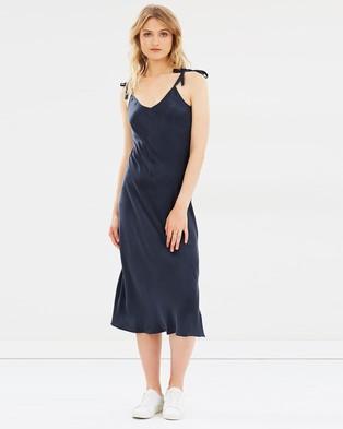 Silk Laundry – Tie Shoulder Dress