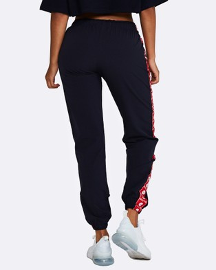 Nicky Kay Logo Track Pants - Sweatpants (Navy, Red)