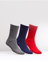 Polo Ralph Lauren - 3-Pack Full Cushioned Rib Crew Socks