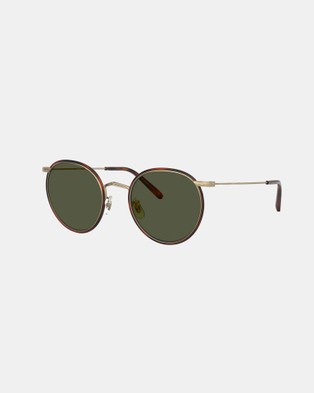 Oliver Peoples Casson - Sunglasses (Antique Gold, Dark Mahogany & G15)