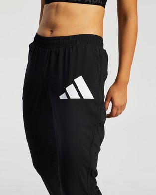 adidas Performance Logo Warm Up Sports Pants - Pants (Black & White)
