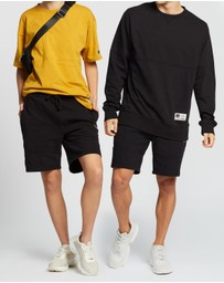 Russell Athletic - Heavy Panelled Track Shorts - Unisex