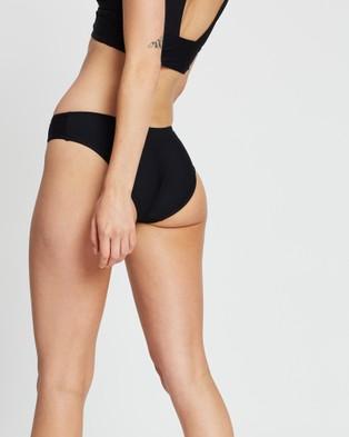 BONDI BORN Nadia Midi Bikini Bottom - Bikini Bottoms (Black)