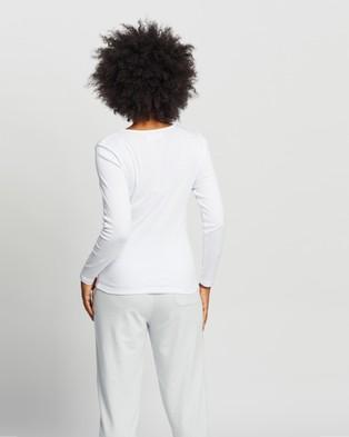 Assembly Label - Kai Rib Long Sleeve Tee - T-Shirts & Singlets (White) Kai Rib Long Sleeve Tee