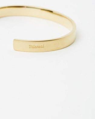 Miansai Label Cuff - Jewellery (Matte Brass)
