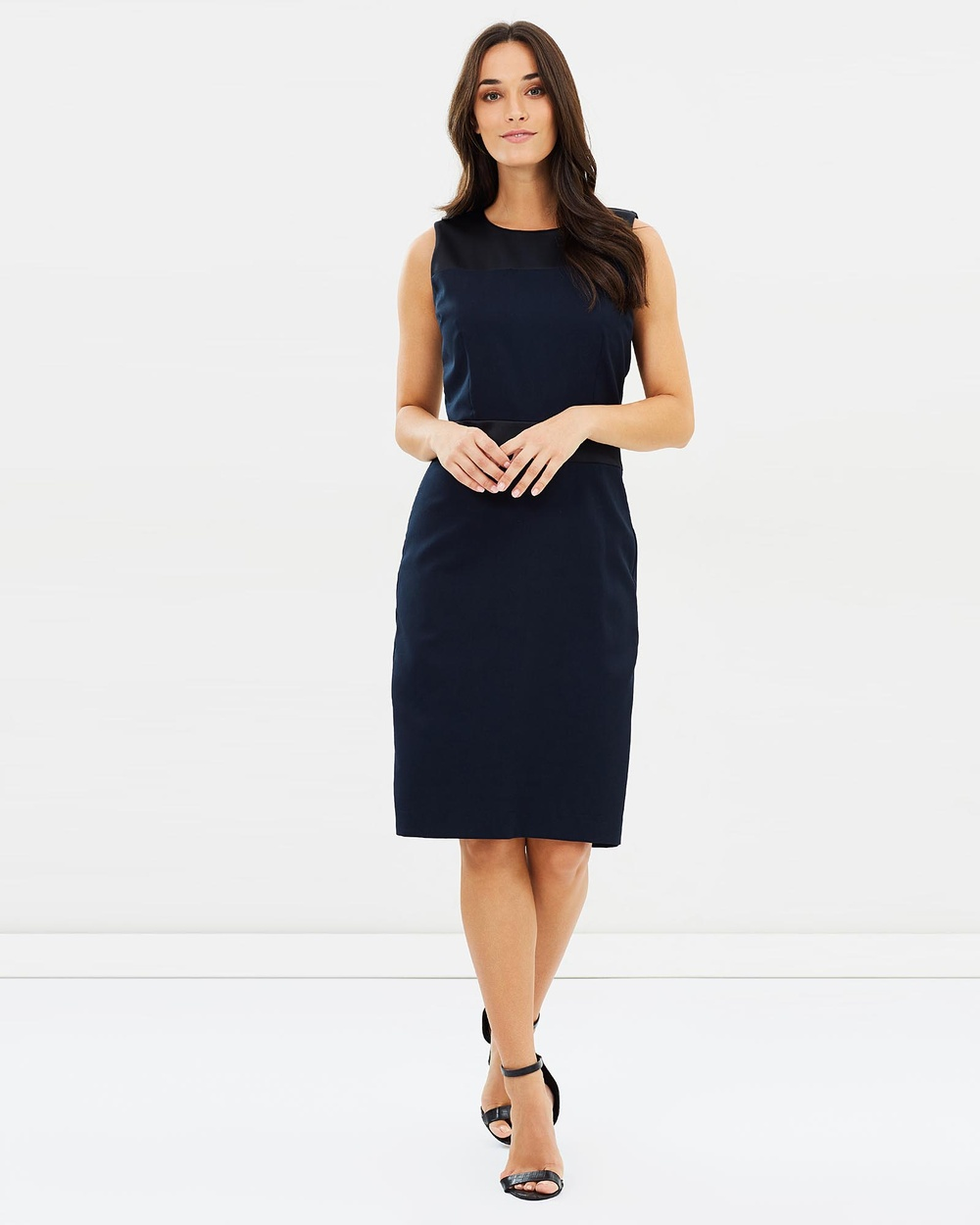 Farage French Navy Gemma Dress