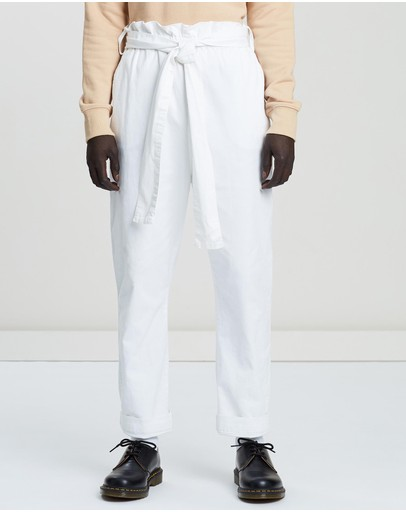 Justin Cassin Newtown Nue Pants White