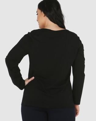 Advocado Plus Essential Long Sleeve Top - Dresses (Black)