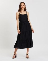Atmos&Here - Clara Tiered Slip Dress
