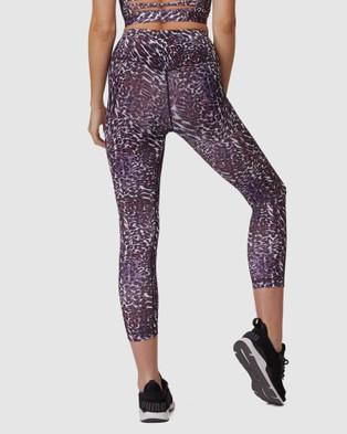L'urv Cosmic Horizons 3 4 Leggings - Compression Bottoms (Purple)