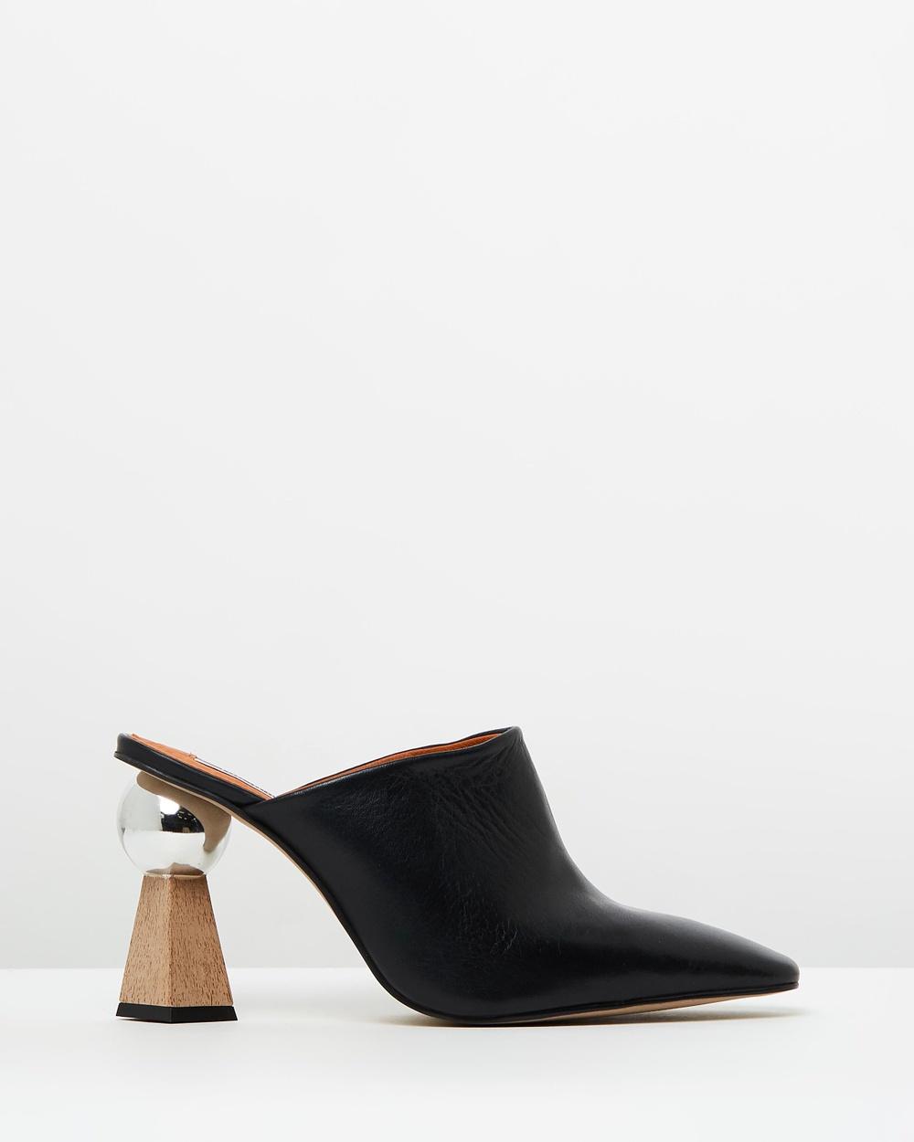 TOPSHOP Gala Sculpted Heels Heels Black Gala Sculpted Heels