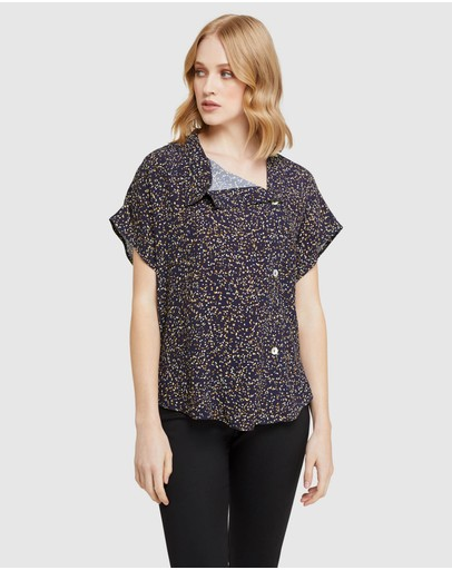 Oxford - Elyse Black Confetti Top