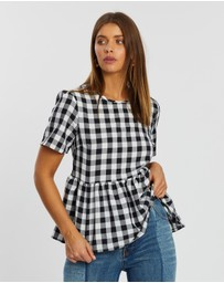 Atmos&Here - Ria Gingham Top