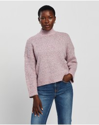 ONLY - High Neck Knitted Pullover