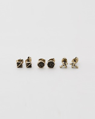 Icon Brand Cross It Off Stud Pack - Jewellery (Gold)