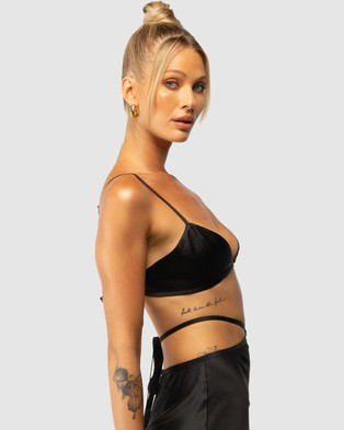 Jagger & Stone Moss Bra Top - Cropped tops (Black)