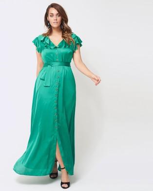 Embody Denim – Birkin Dress – Dresses (Emerald Green)