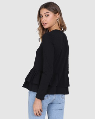Madison The Label Kaely Top - Jumpers & Cardigans (Black)