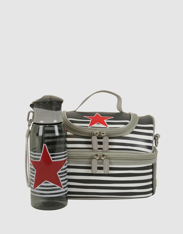 Bobbleart - Dome Lunch Bag and Drink Bottle Pack Star and Stripe