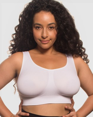 B Free Intimate Apparel High Back Pull On Crop Top   3 Pack - Crop Tops (Black, Nude & White)