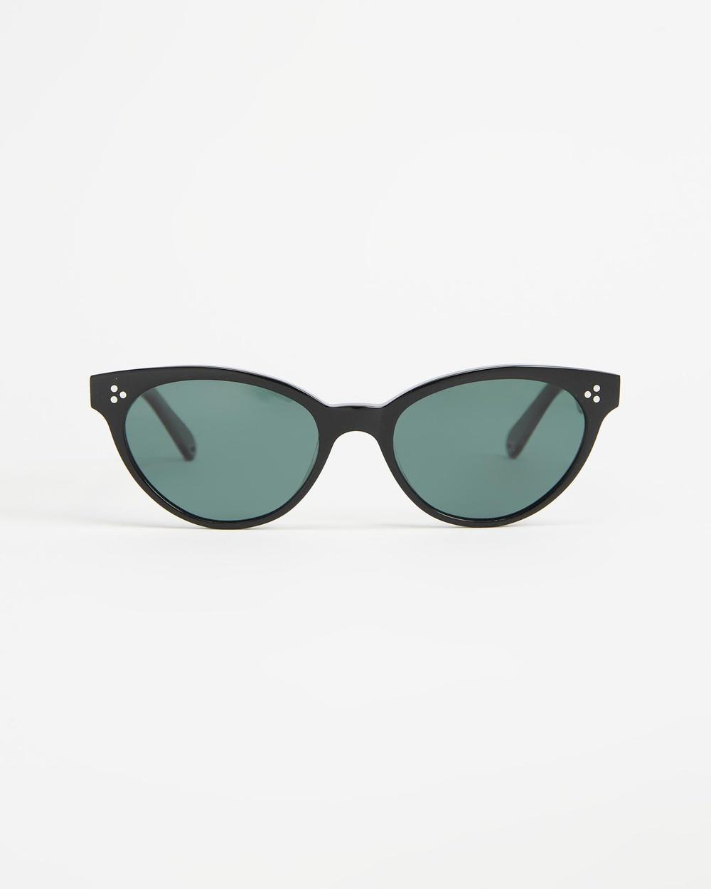 Pacifico Optical Francis Sunglasses Black & Polarised Green