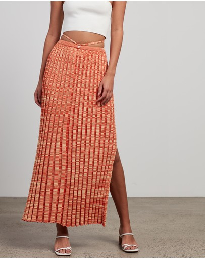 Christopher Esber - Pleated Knit Tie Skirt