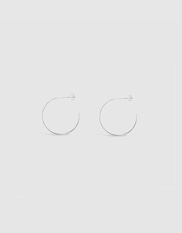 Women Crossed Hoop Earrings