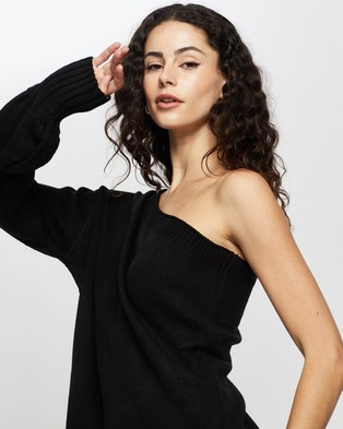 REVERSE Sweater Dress - Dresses (Black)