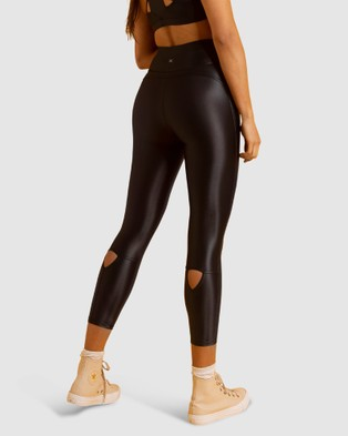 First Base Home Base 7 8 Leggings - Sports Tights (Black)